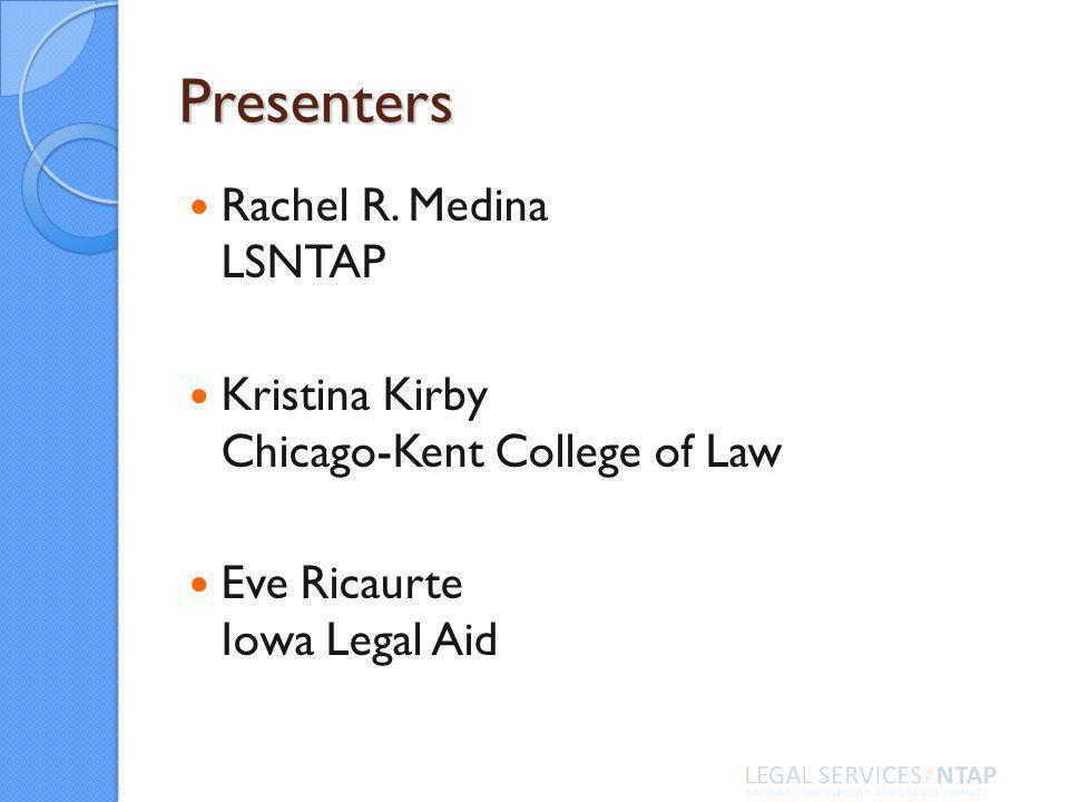 Presenters Rachel R.