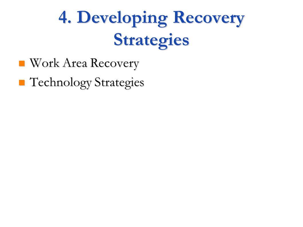 4. Developing Recovery Strategies Work Area Recovery Work Area Recovery Technology Strategies Technology Strategies