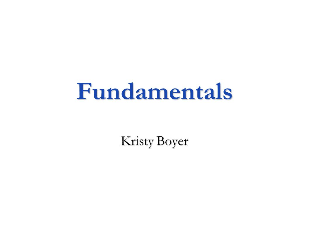 Fundamentals Kristy Boyer