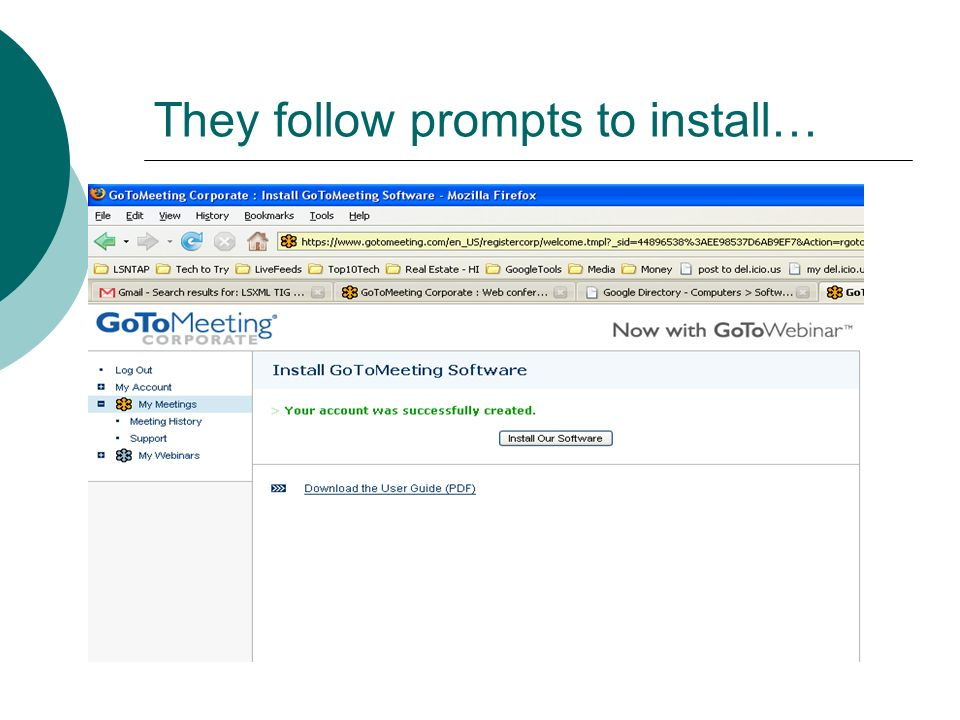 They follow prompts to install…
