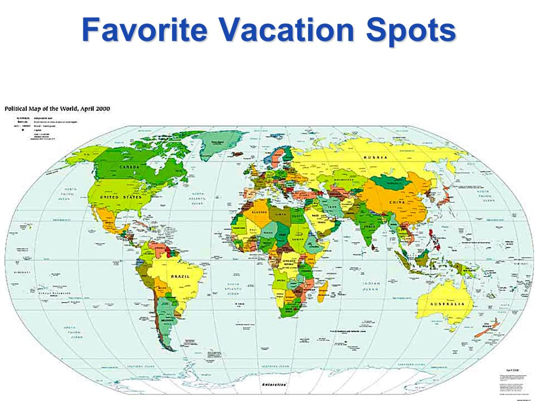 Favorite Vacation Spots