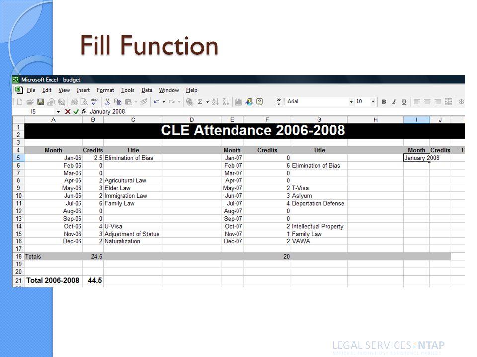 Fill Function
