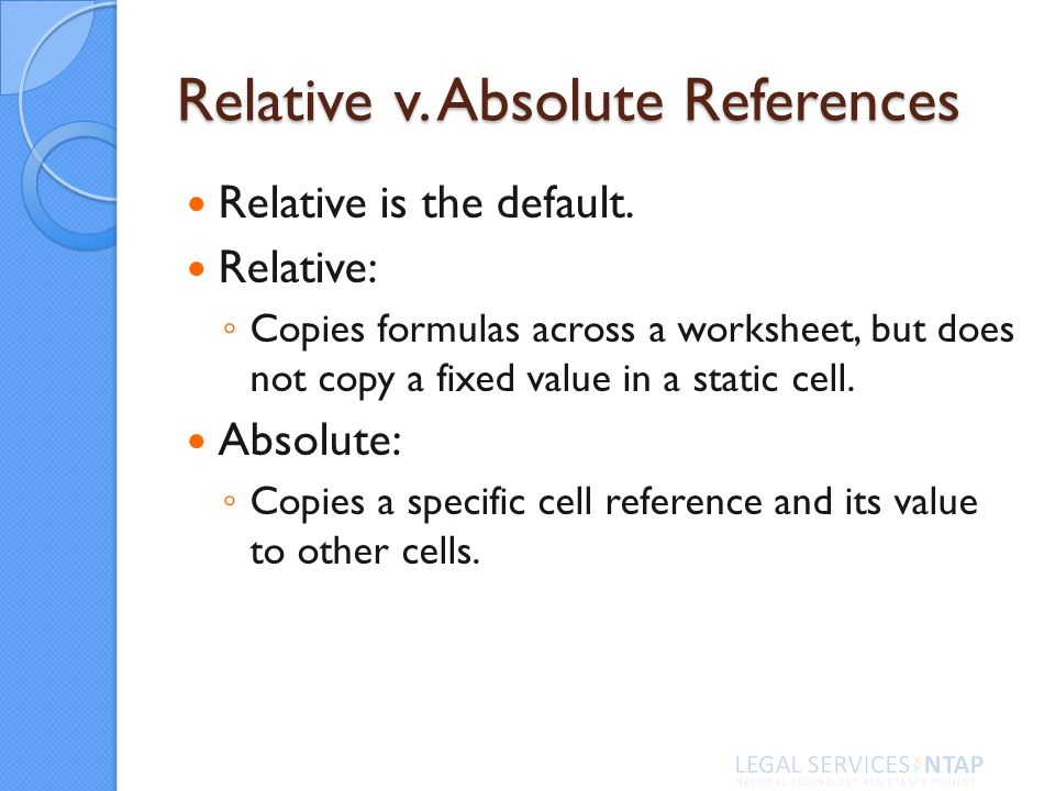 Relative is the default.