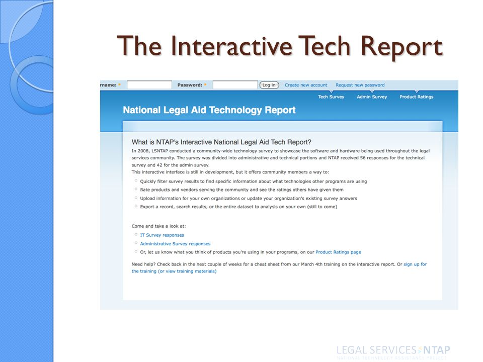 The Interactive Tech Report