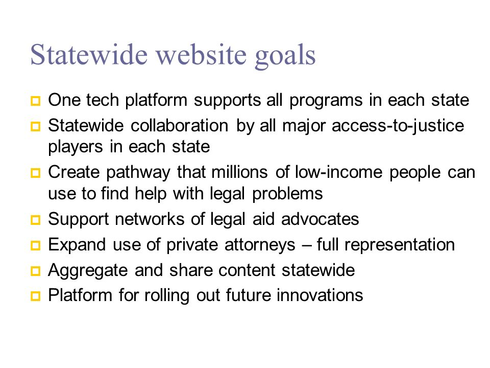 New Developments in Statewide Websites The last 2-3 years there has been an evolution of online content.