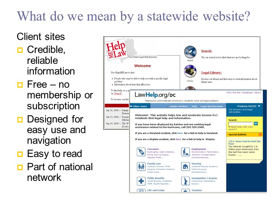 Site Features: Library Library of training and other background or sample materials, including webcasts