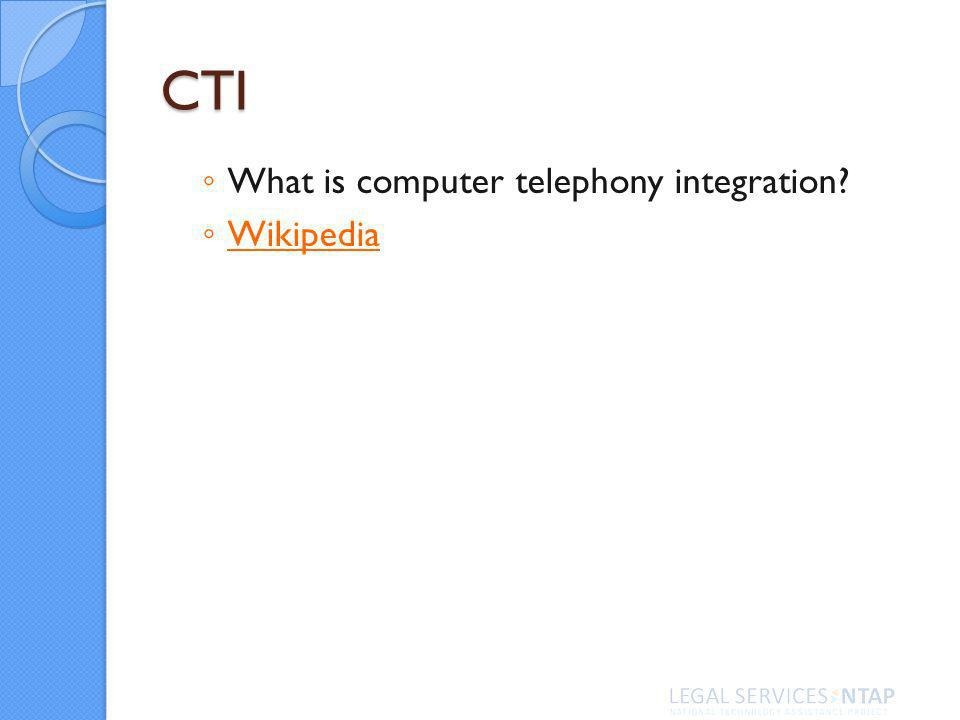 CTI What is computer telephony integration Wikipedia