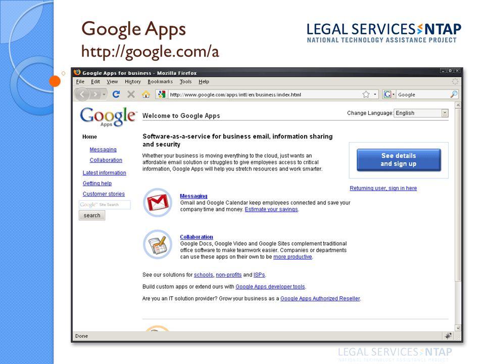 Google Apps http://google.com/a
