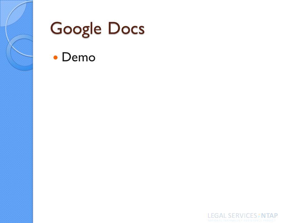 Google Docs Demo