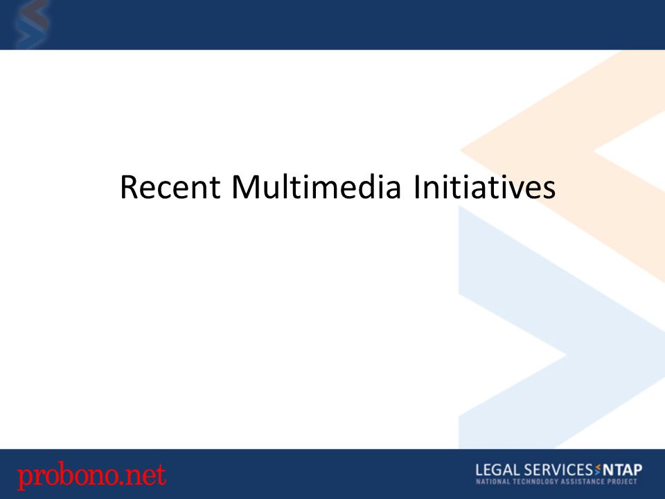 Recent Multimedia Initiatives