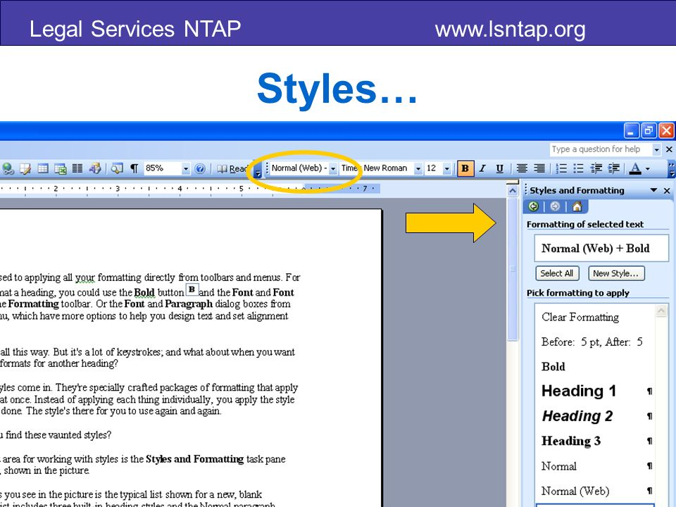 Legal Services NTAP www.lsntap.org Styles…