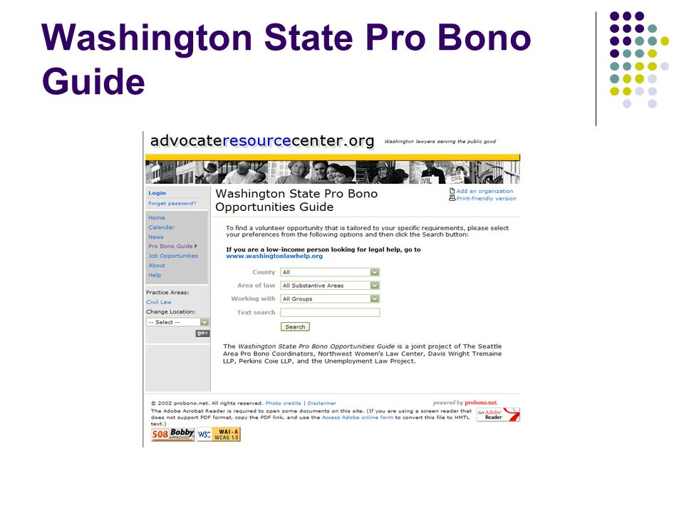 Washington State Pro Bono Guide