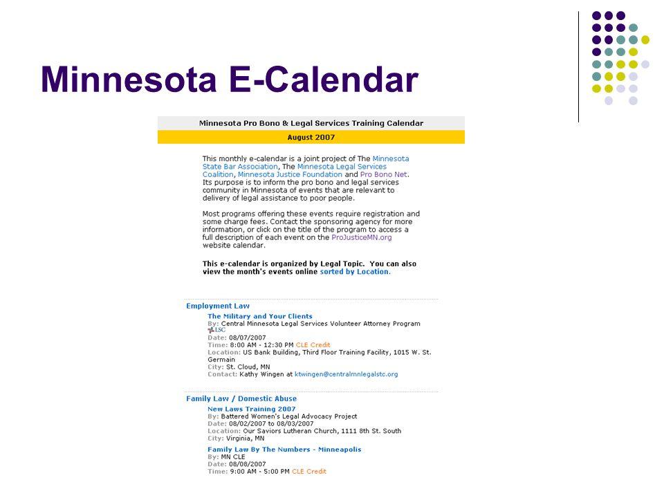 Minnesota E-Calendar