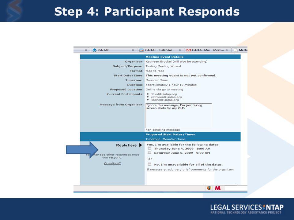Step 4: Participant Responds