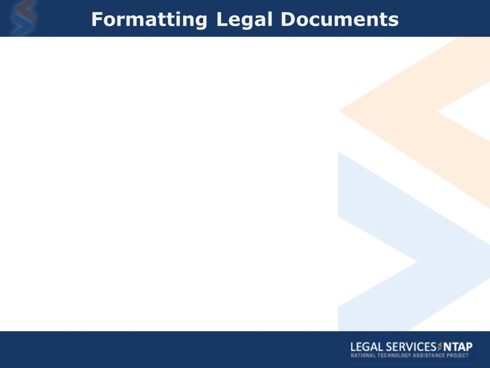 Formatting Legal Documents