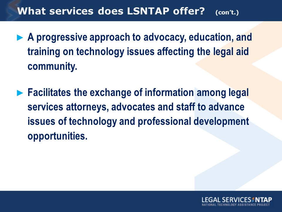 What services does LSNTAP offer.
