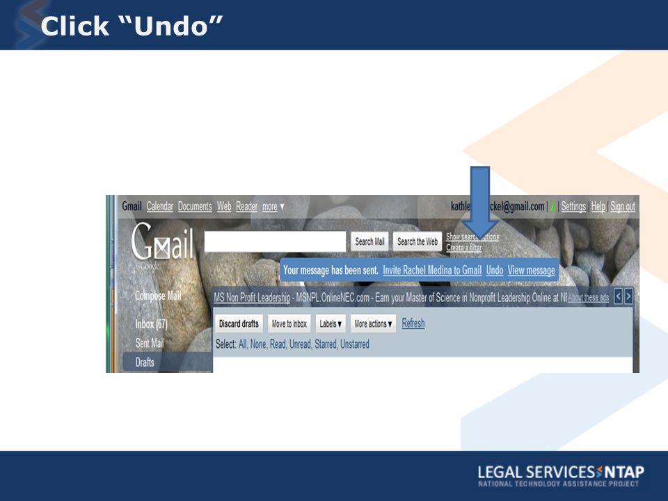 Click Undo