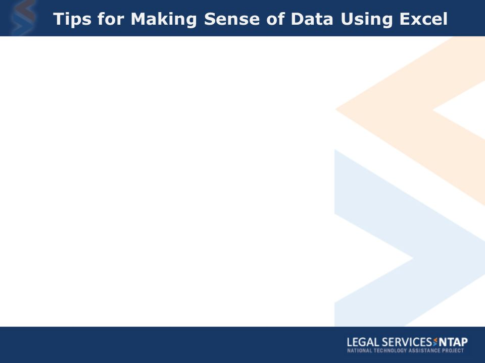 Tips for Making Sense of Data Using Excel