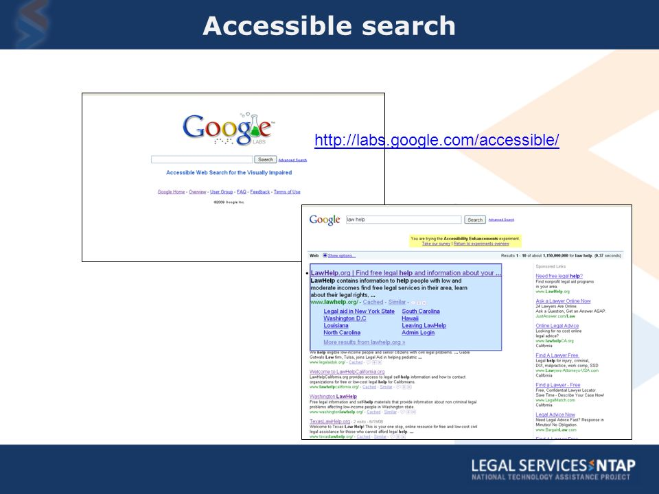 Accessible search http://labs.google.com/accessible/