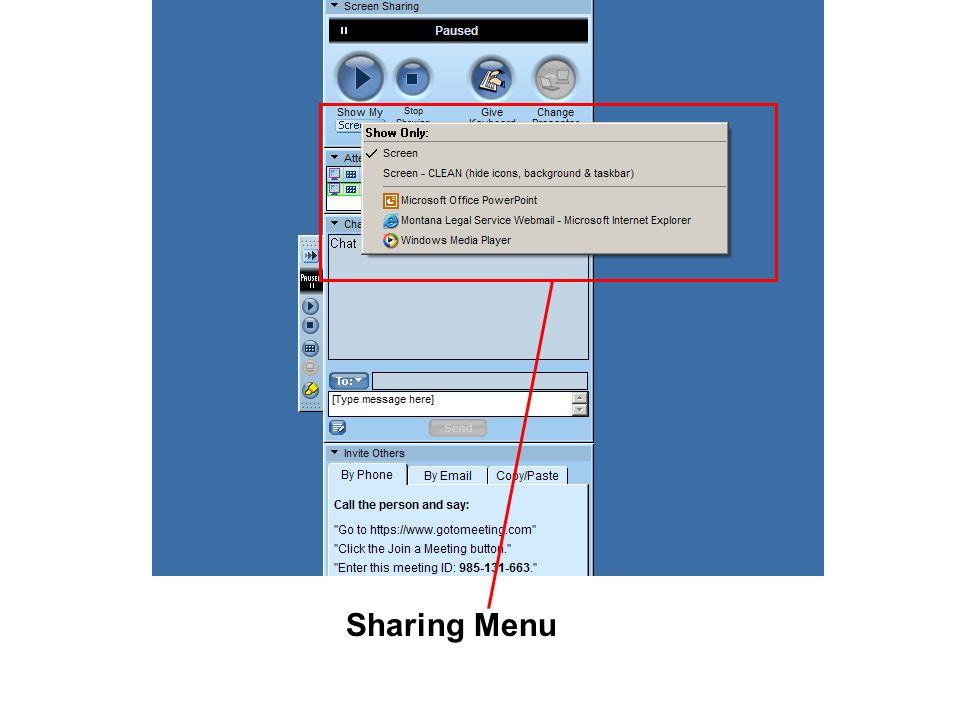 Sharing Menu