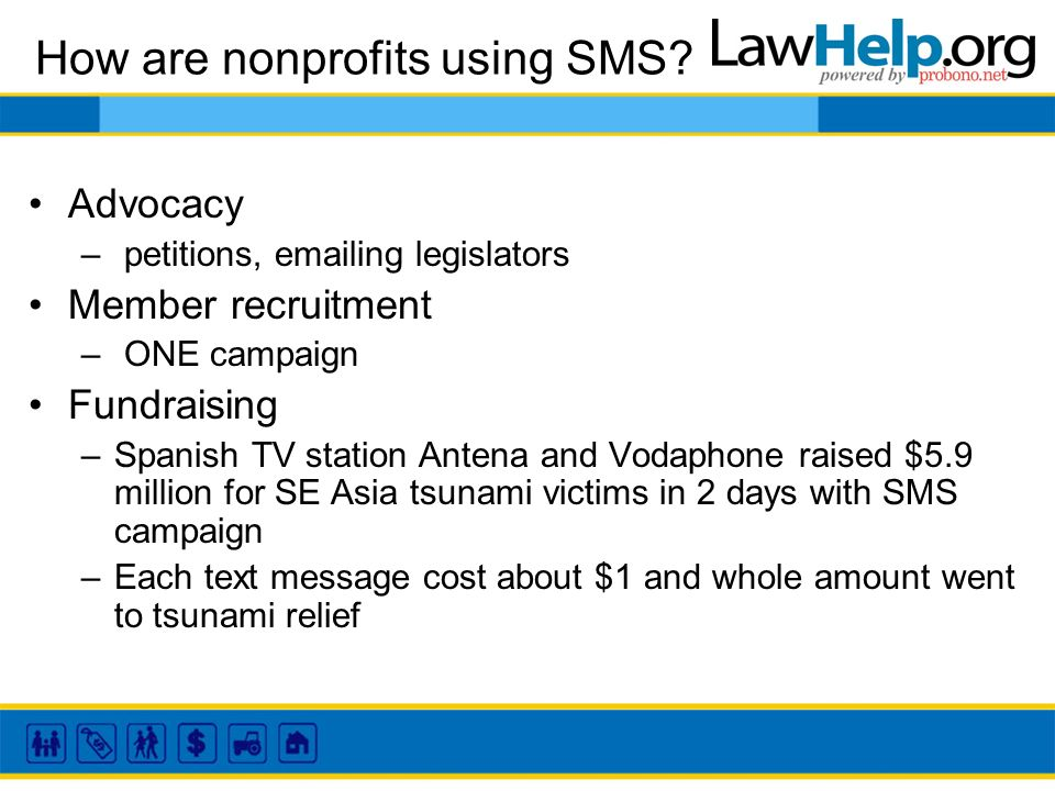 How are nonprofits using SMS.