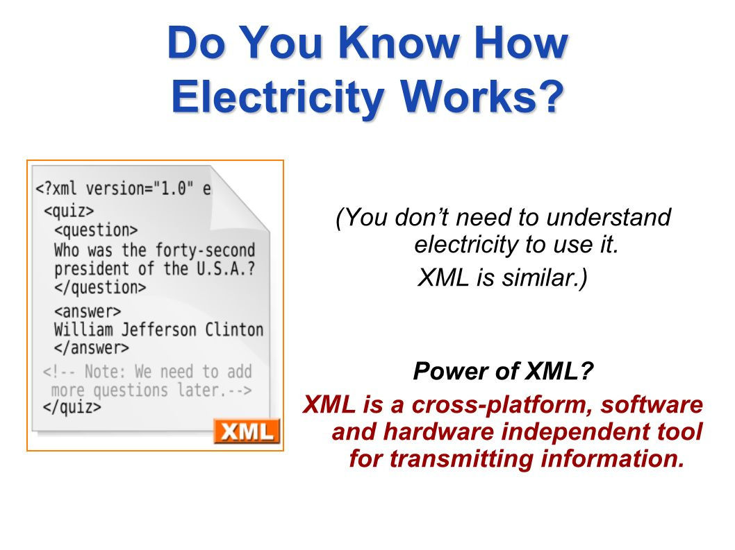 Do You Know How Electricity Works. (You dont need to understand electricity to use it.
