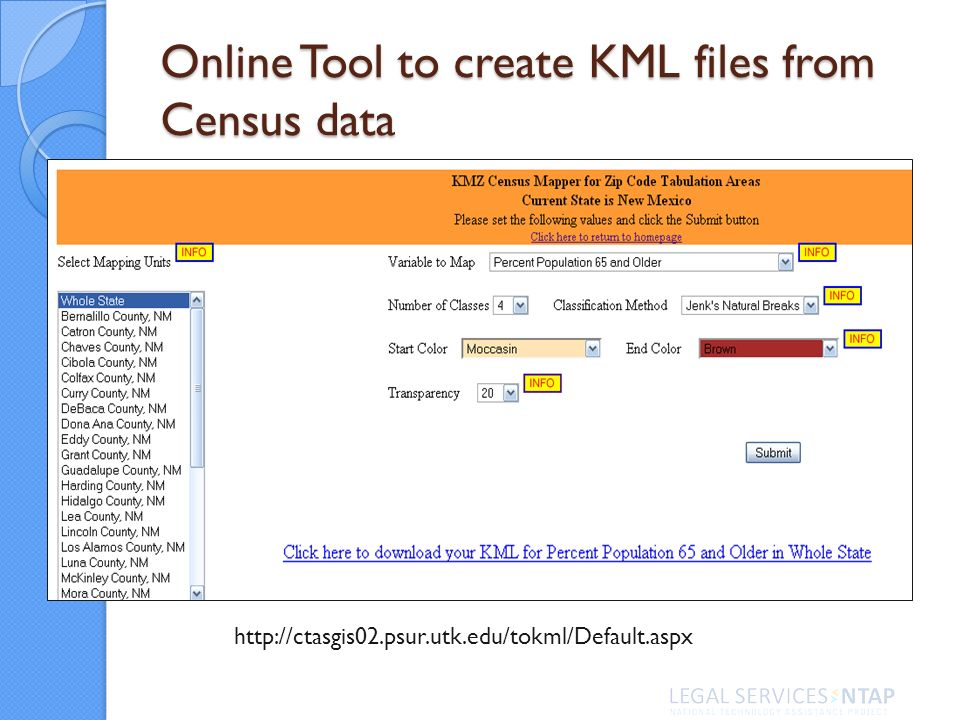 Online Tool to create KML files from Census data