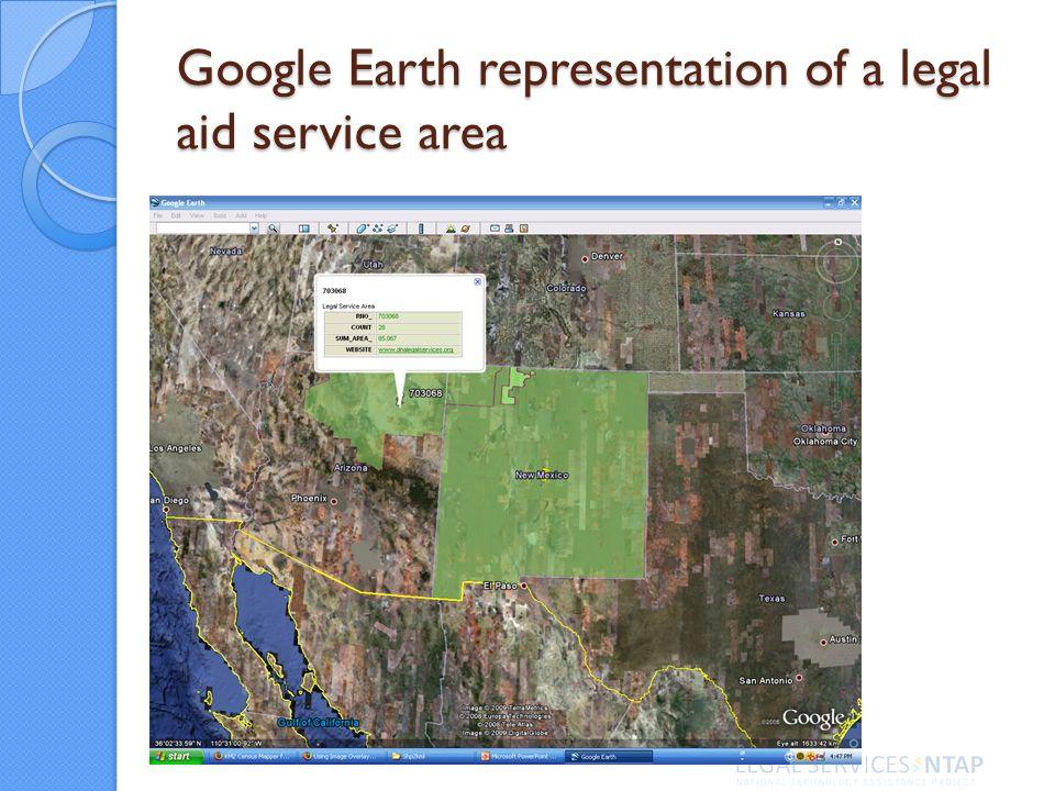 Google Earth representation of a legal aid service area