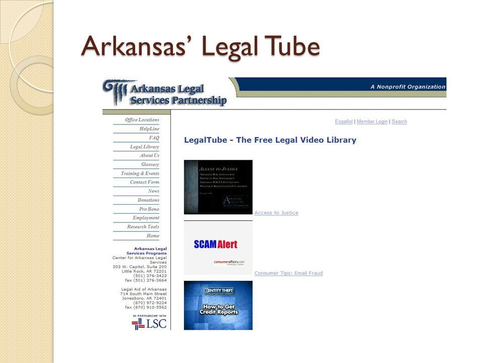 Arkansas Legal Tube