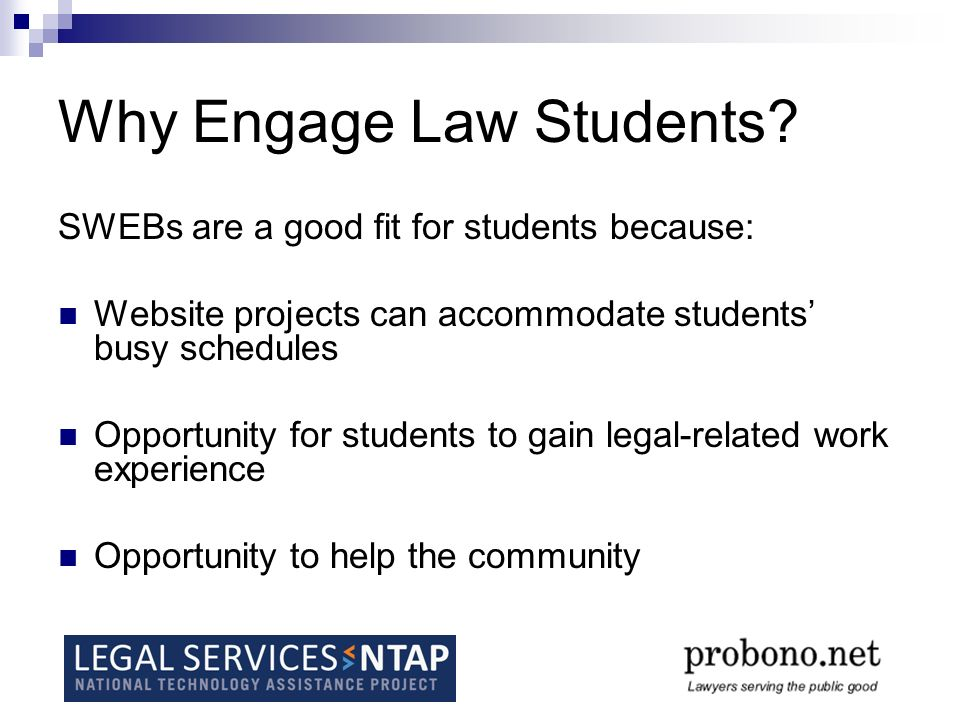 Why Engage Law Students.