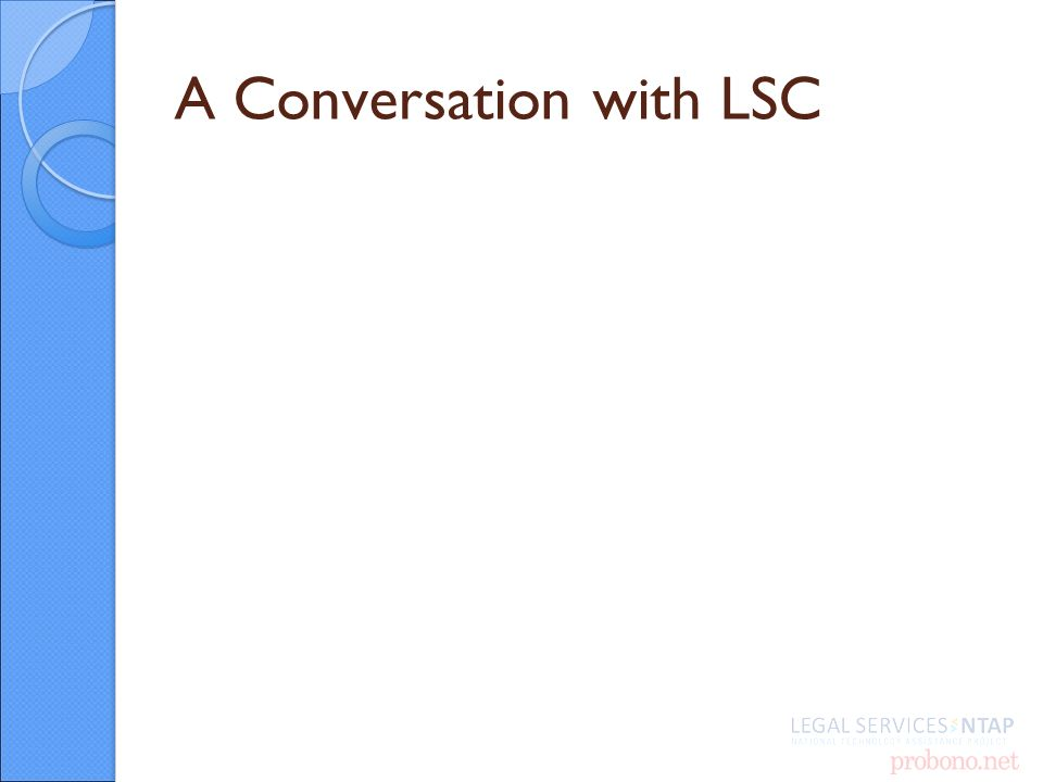 A Conversation with LSC