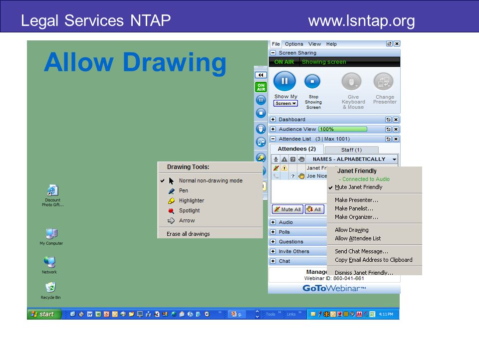 Legal Services NTAP   Allow Drawing