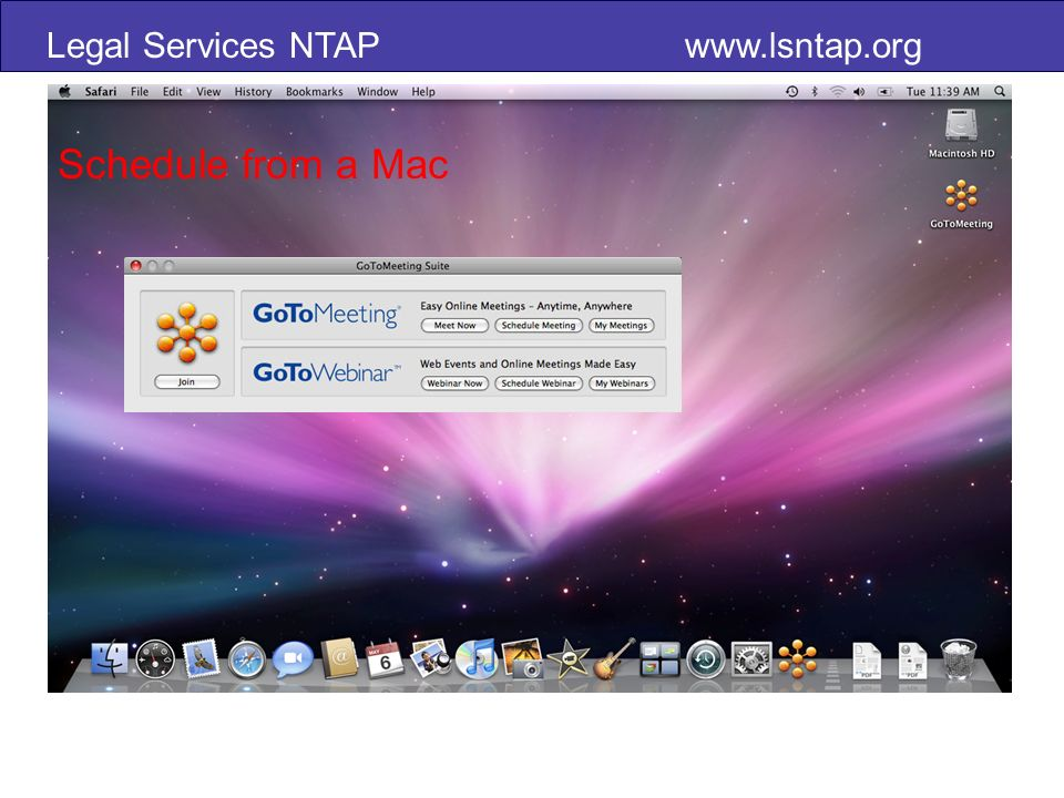 Legal Services NTAP   Schedule from a Mac