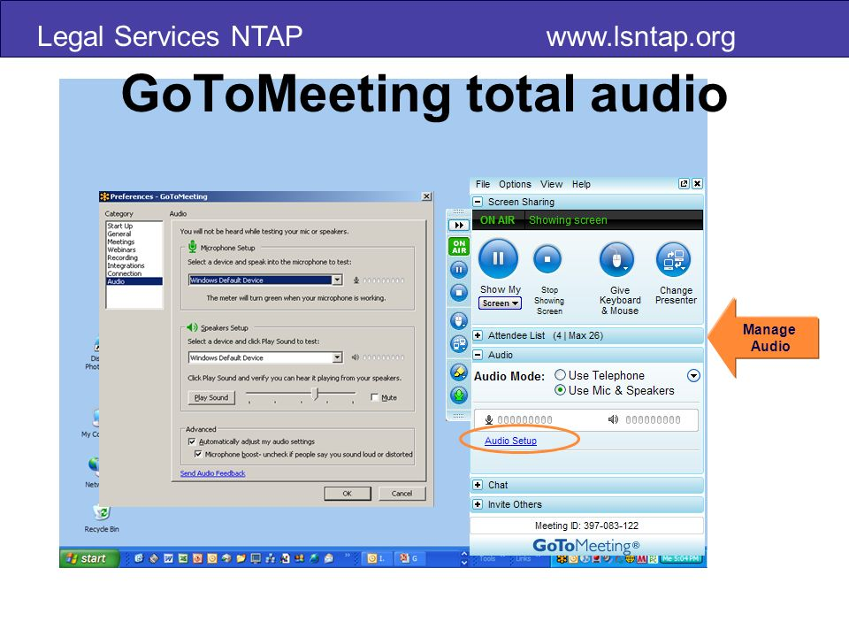 Legal Services NTAP www.lsntap.org Audio Best Practices