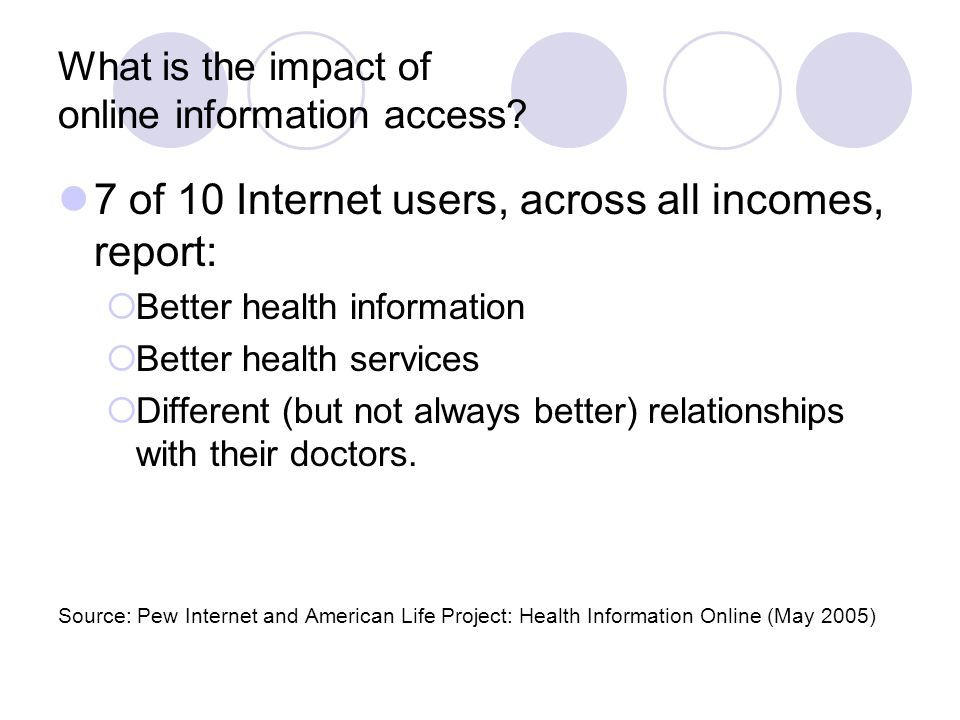 What is the impact of online information access.