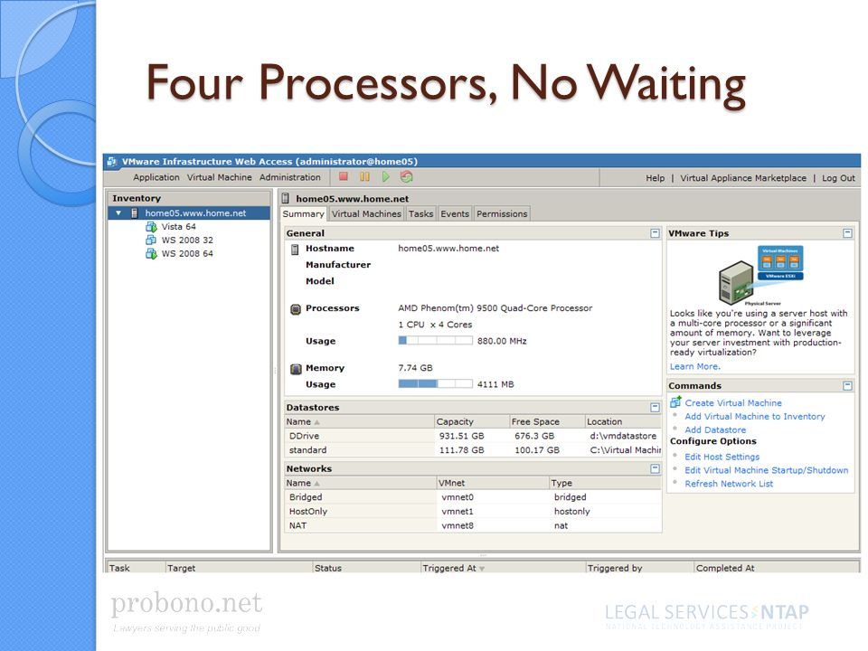 Four Processors, No Waiting