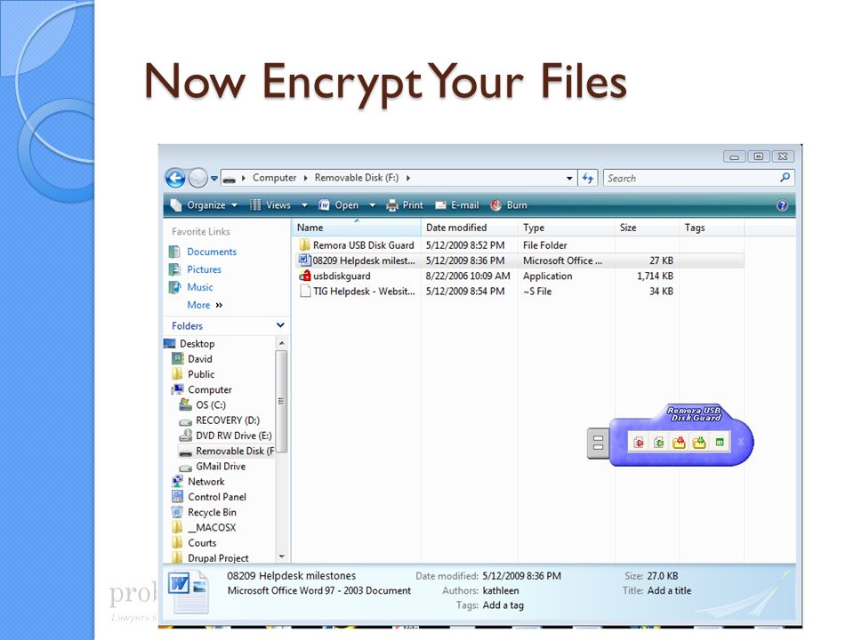 Now Encrypt Your Files