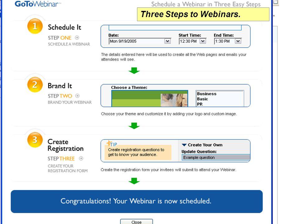 Three Steps to Webinars.