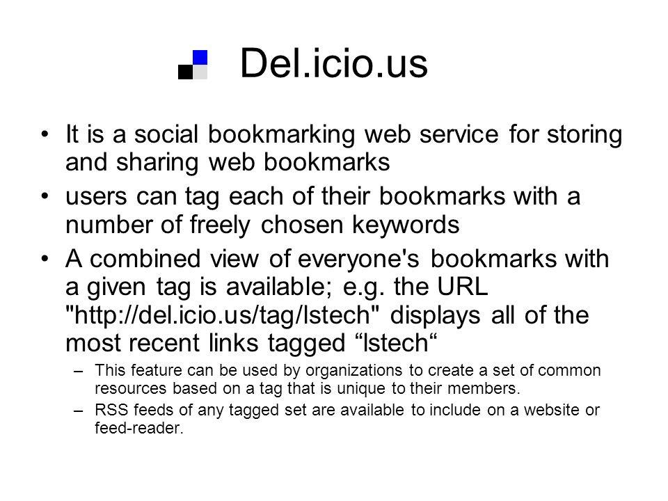 Demo Del.icio.us -1