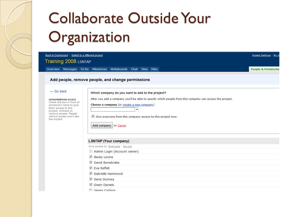 Collaborate Outside Your Organization