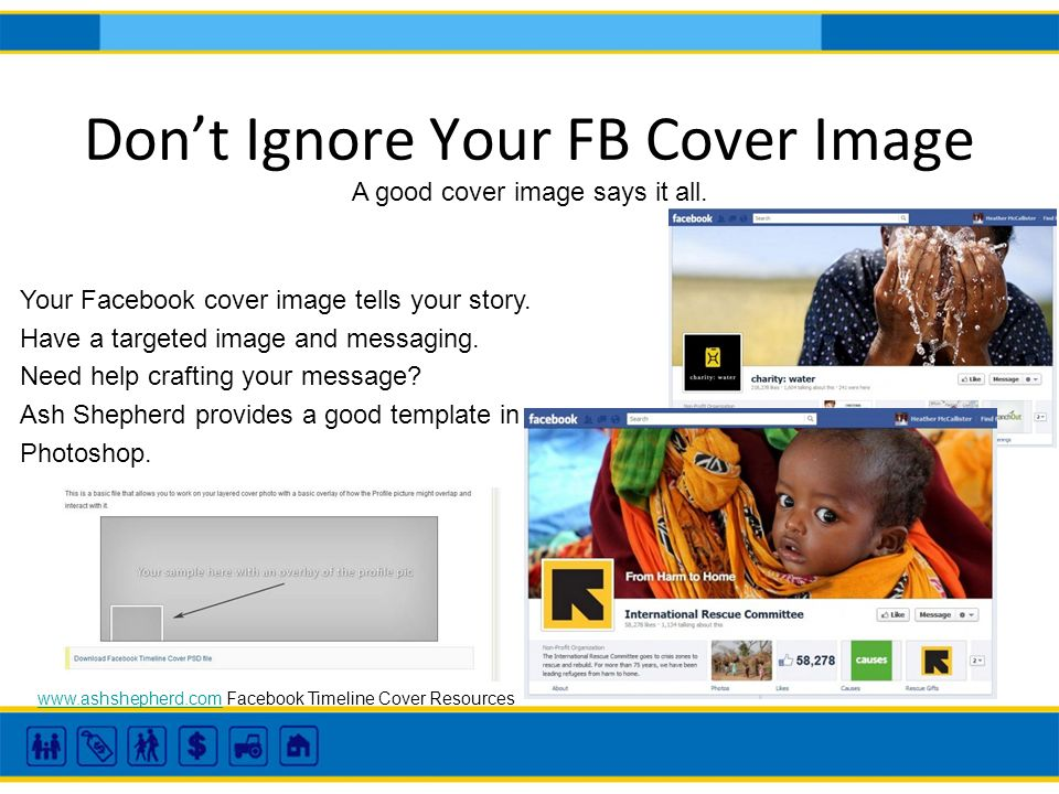 Dont Ignore Your FB Cover Image A good cover image says it all.