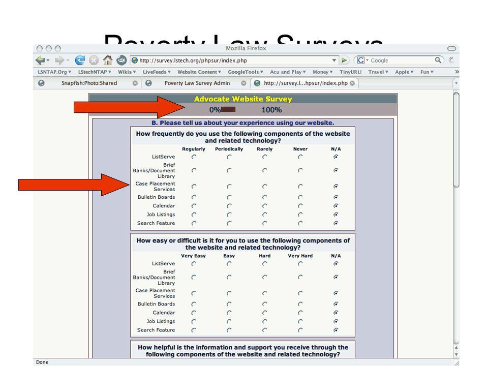 Poverty Law Surveys