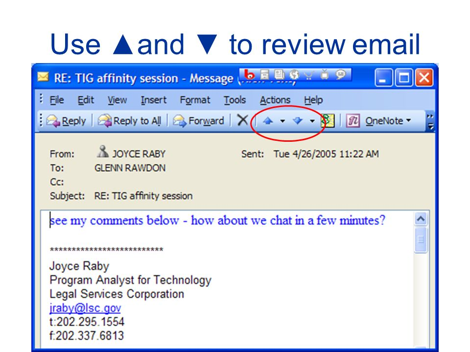 Use and to review email