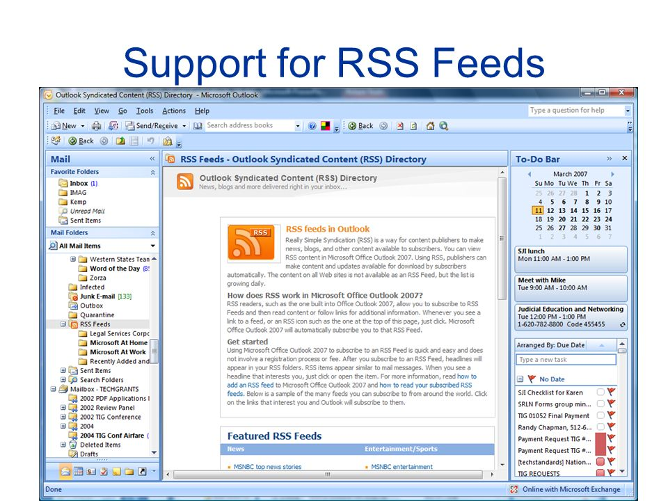 Support for RSS Feeds