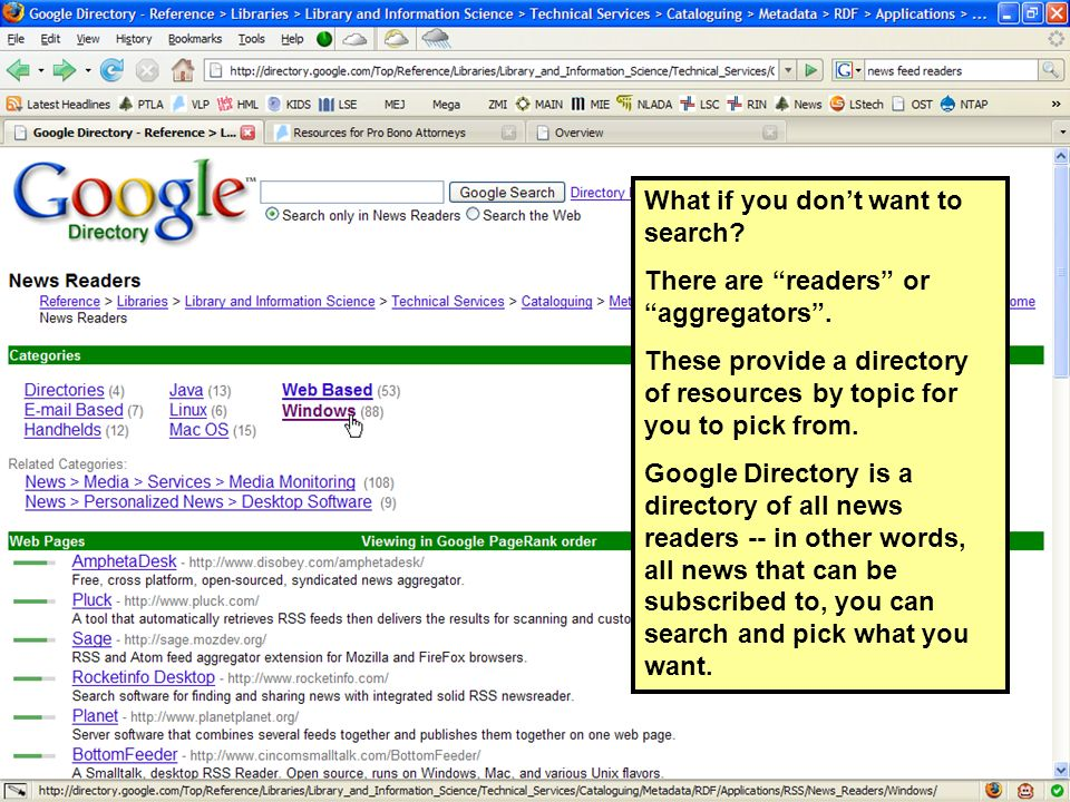What if you dont want to search. There are readers or aggregators.