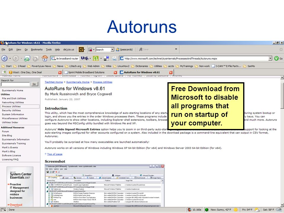 Autoruns Free Download from Microsoft to disable all programs that run on startup of your computer.