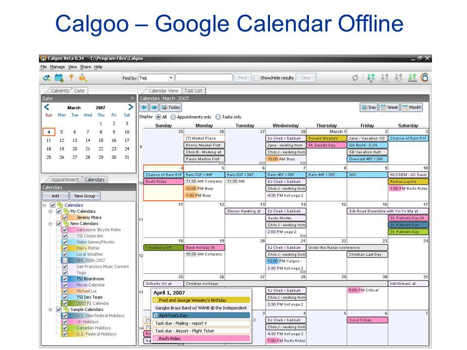 Calgoo – Google Calendar Offline