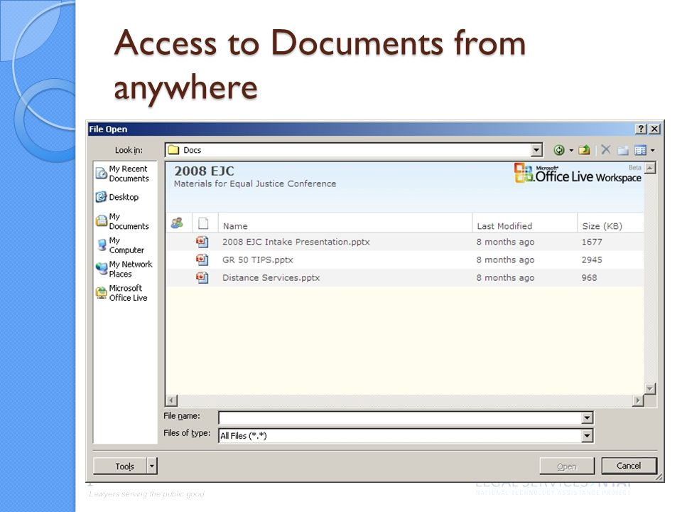 Access to Documents from anywhere