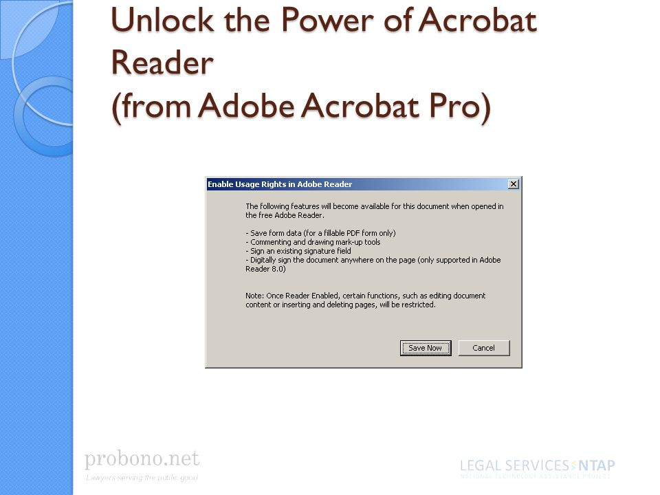 Unlock the Power of Acrobat Reader (from Adobe Acrobat Pro)