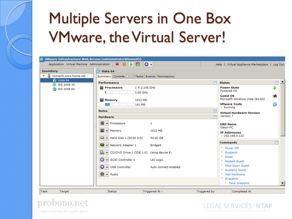 Multiple Servers in One Box VMware, the Virtual Server!